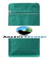 Пакет восьмишовный с плоским дном бирюзовый матовый с  замком зип лок
