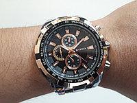 Мужские часы Curren. Модель 8023. Металлический браслет. Кварцевые. Рассрочка. Kaspi RED.