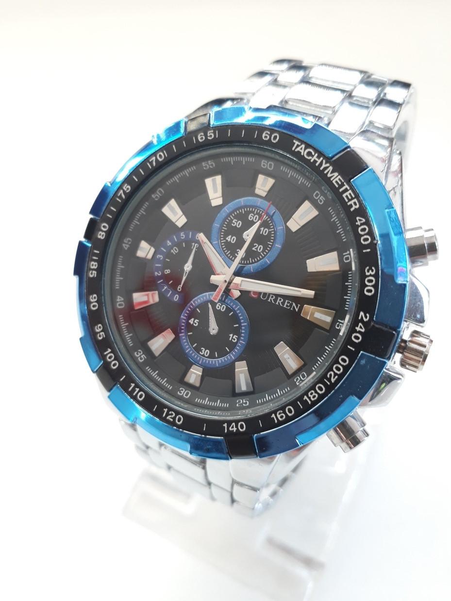 Мужские часы Curren. Модель 8023. Металлический браслет. Кварцевые.