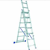 Лестница алюминиевая трехсекционная 3х8 оптом