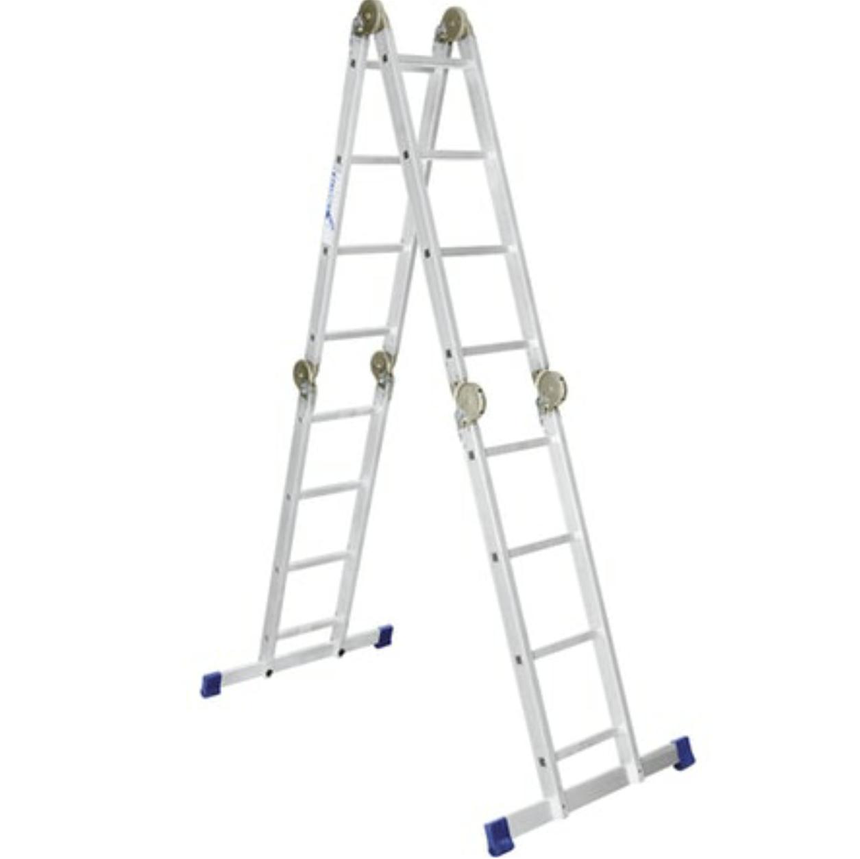 Лестница-трансформер алюминиевая шарнирная 4х5 ступеней оптом