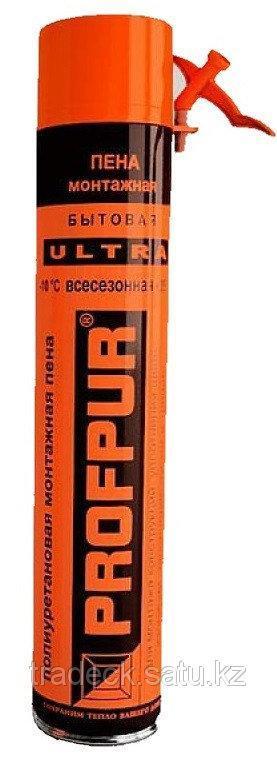 Пена монтажная всесезонная Profpur Ultra бытовая 45л 750мл оптом