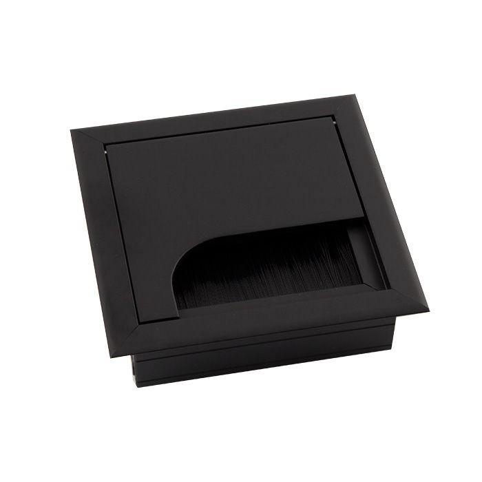 Пропуск для кабеля в стол Merida 80x80 черный