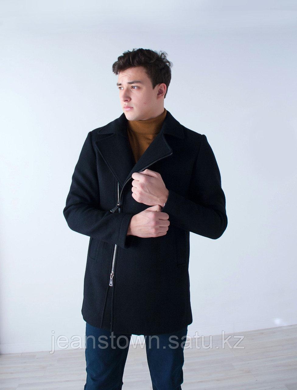 Пальто мужское демисезонное Vivacana черное - фото 2
