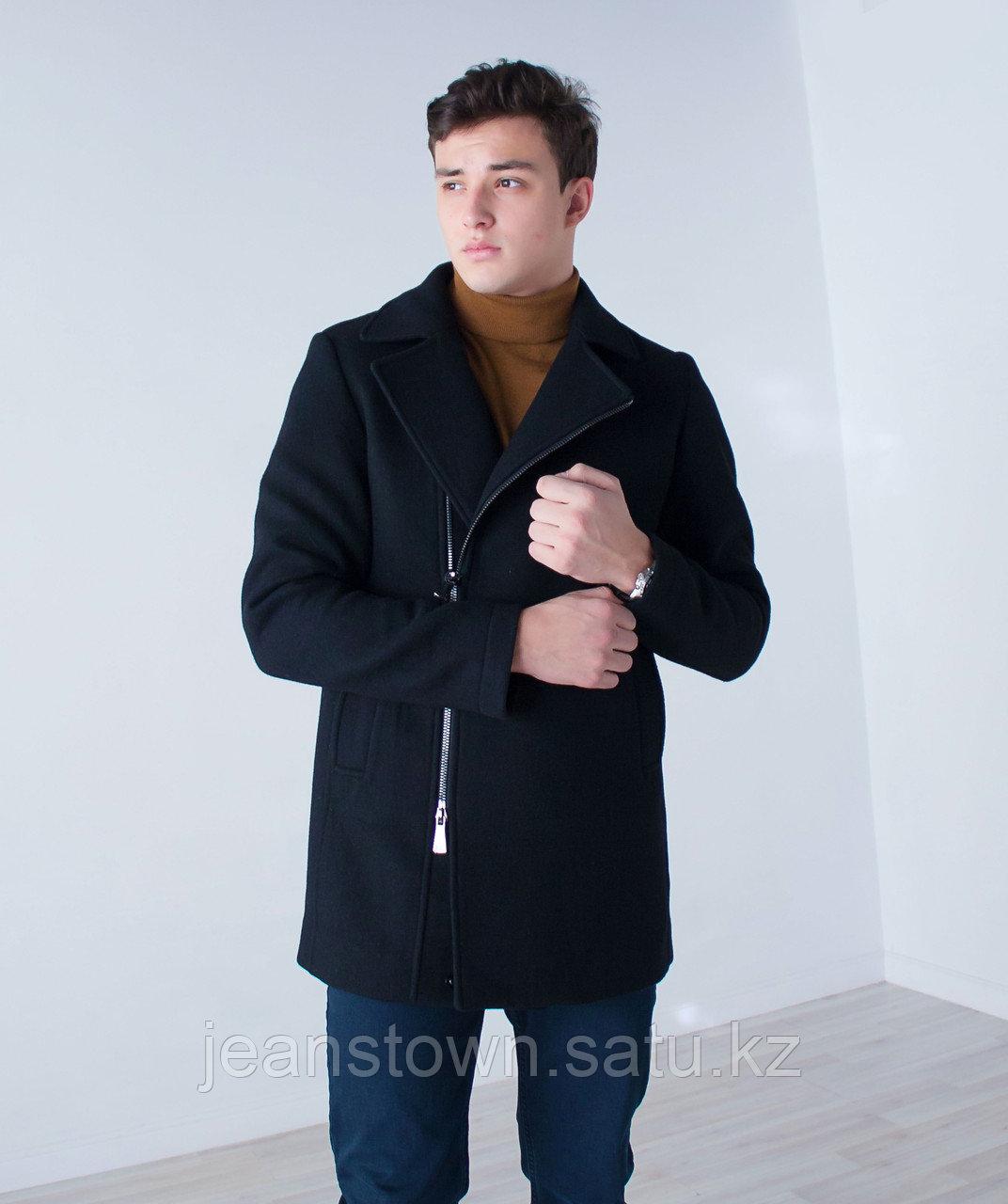 Пальто мужское демисезонное Vivacana черное - фото 3
