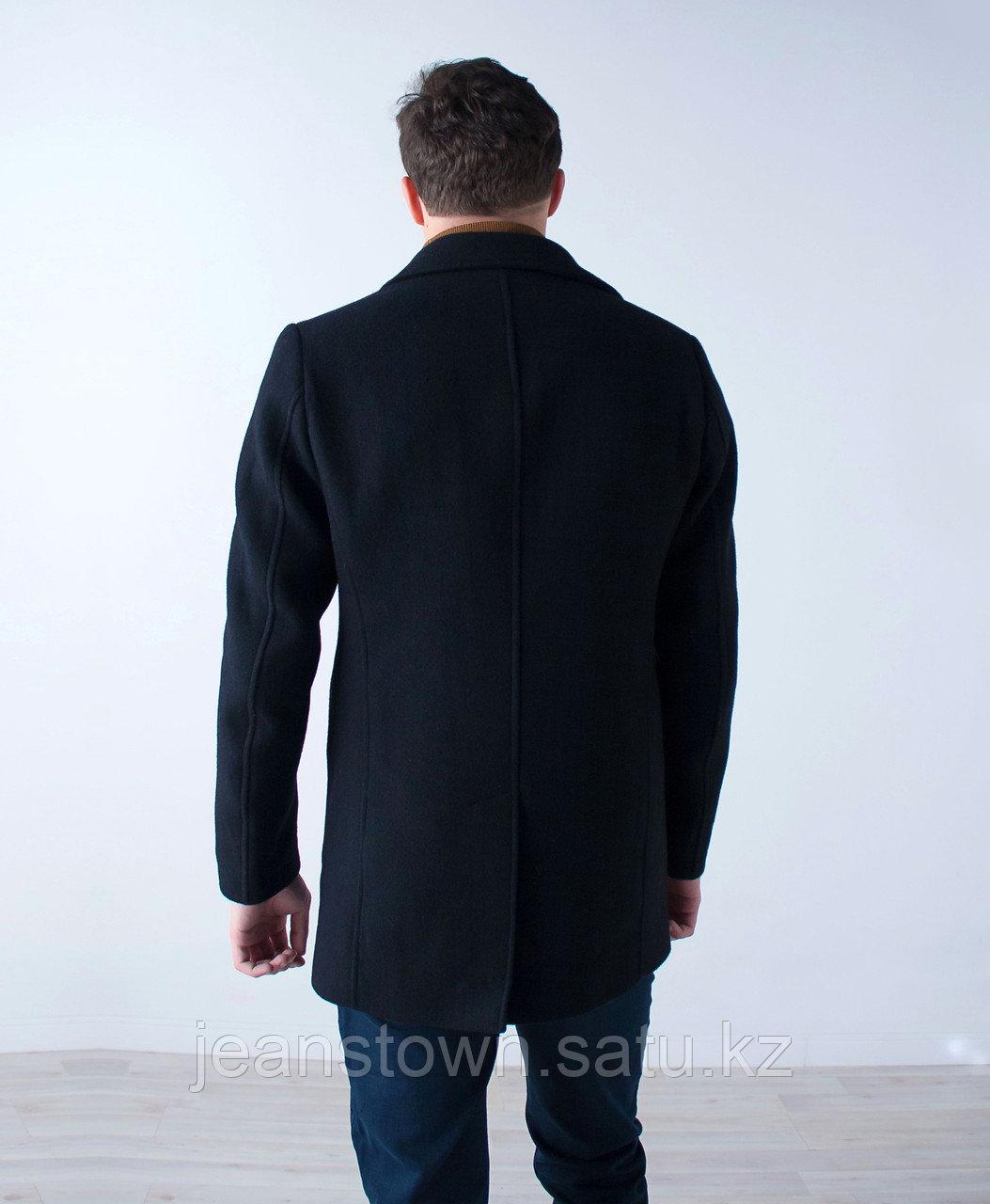 Пальто мужское демисезонное Vivacana черное - фото 4