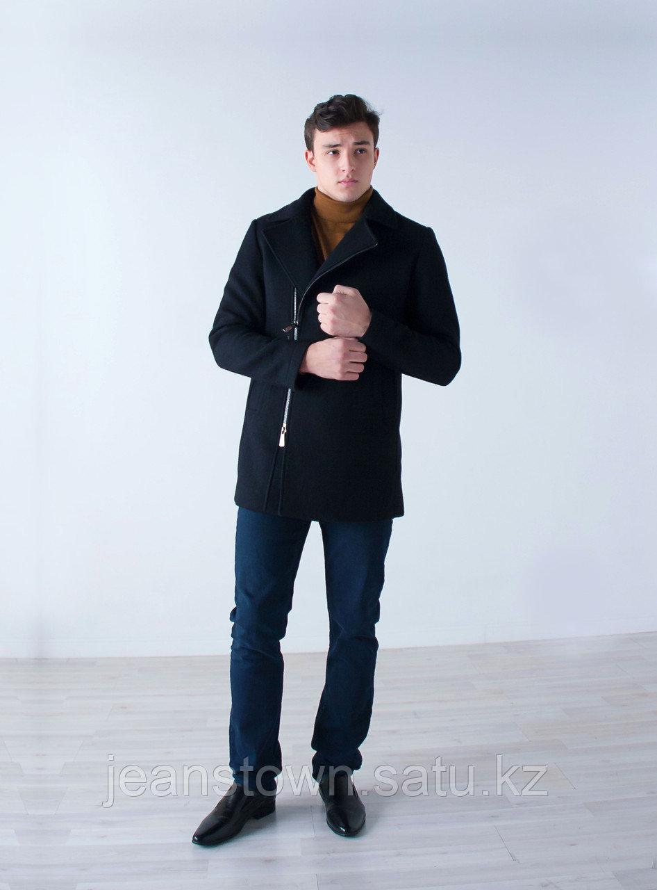Пальто мужское демисезонное Vivacana черное - фото 1
