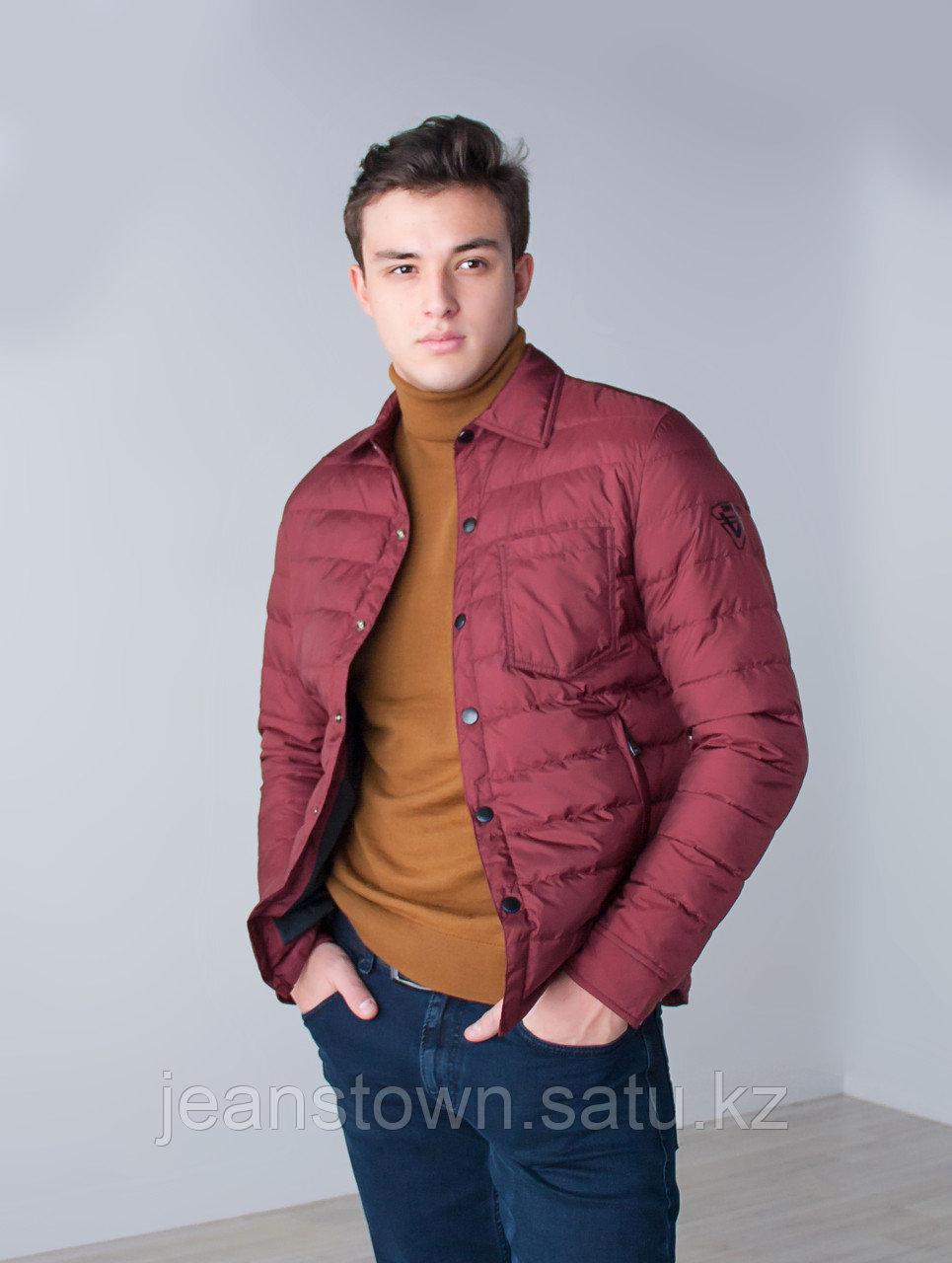 Куртка мужская демисезонная Vivacana бордовая - фото 4