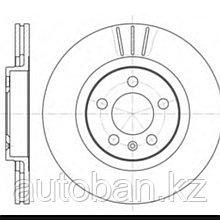 Диск тормозной передний Audi A3/Volkswagen Golf 4, Jetta обьем 1.8-2.0 с 1997-2004г