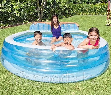 """Надувной бассейн """"Семейный диван"""" 224х216х76 см, Intex 57190, фото 2"""
