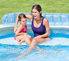 """Надувной бассейн """"Семейный диван"""" 224х216х76 см, Intex 57190, фото 3"""