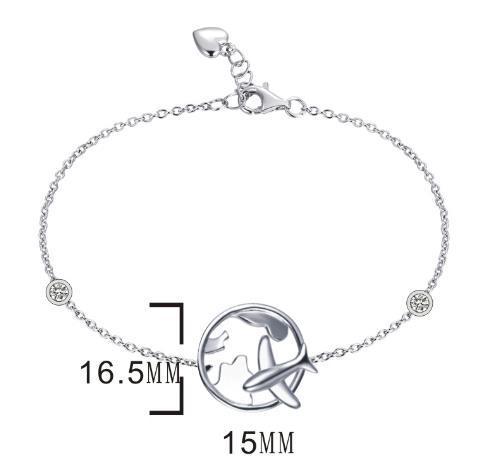 Серебряный  браслет  Brosh Jewellery (Серебро 925) покрытие родий.