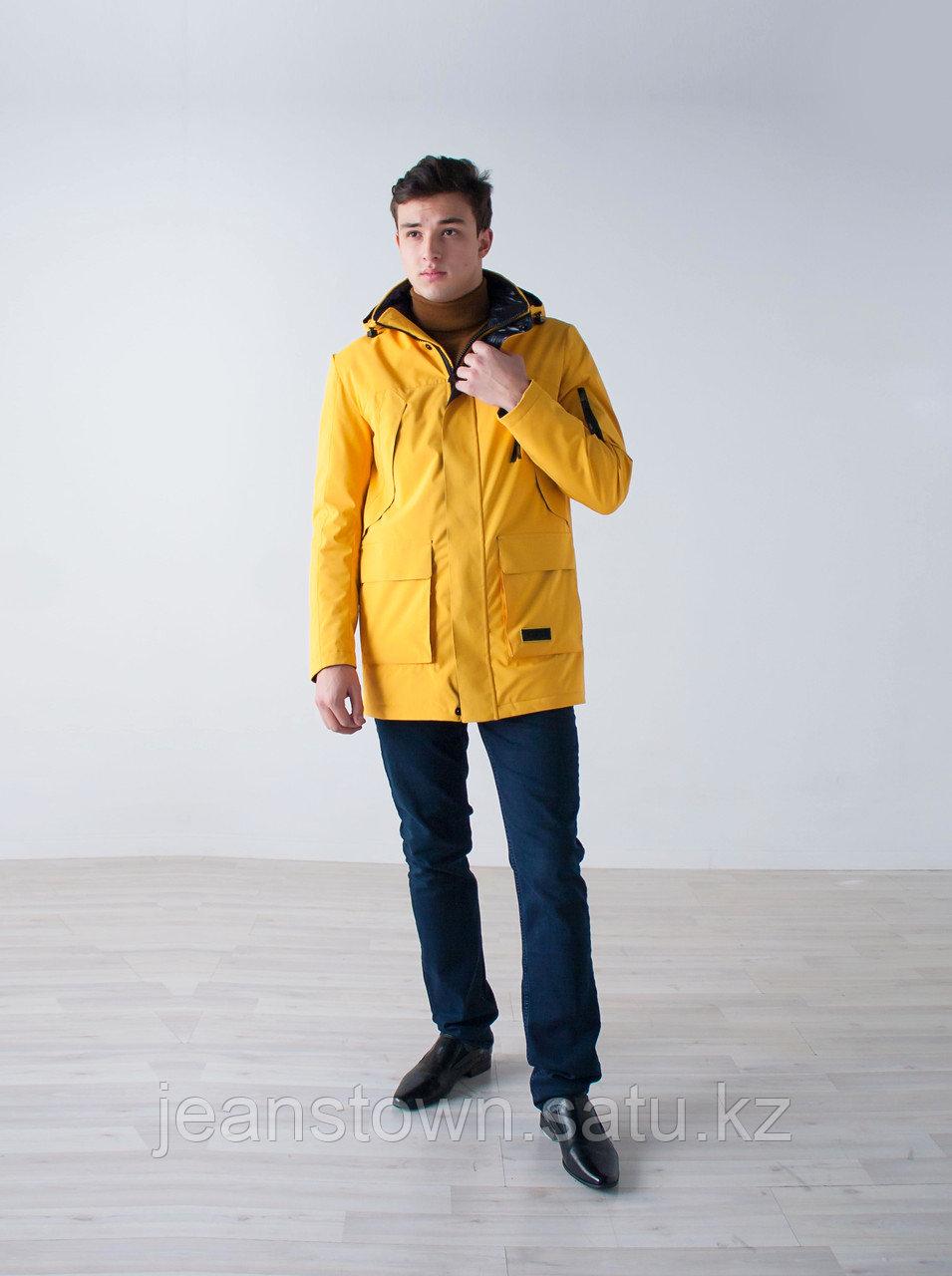Куртка мужская демисезонная Vivacana желтая - фото 4