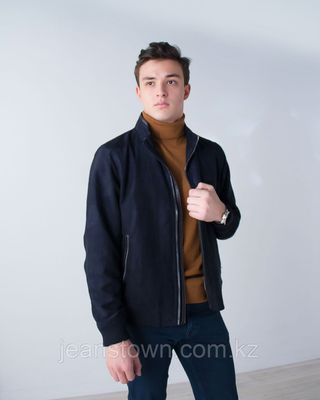 Куртка мужская демисезонная City Class синяя,короткая - фото 2