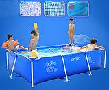 Каркасный бассейн прямоугольный 220х150х60 см, Intex 28270, фото 2
