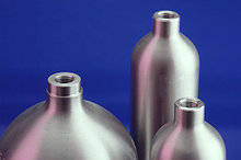 Конструкция цилиндра многоточия LUXFER стандартные DOT - 3E с максимальным раюоичм давлением 124 бар.