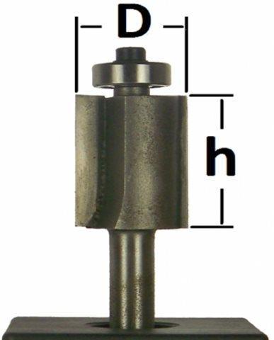 Фреза прямая кромочная с подшипником  Глобус D=20l=40,d=8mm арт.1120 20х40