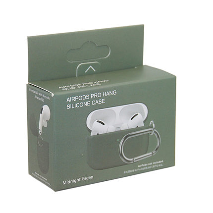 Чехол Hang Silicone Case Midnight Green для Airpods Pro, фото 2