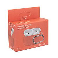 Чехол Hang Silicone Case Peach для Airpods Pro