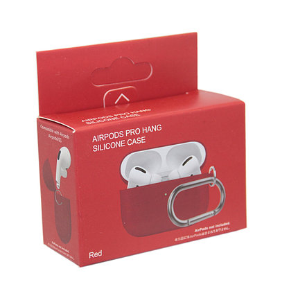 Чехол Hang Silicone Case Red для Airpods Pro, фото 2