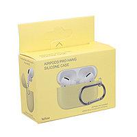 Чехол Hang Silicone Case Yellow для Airpods Pro