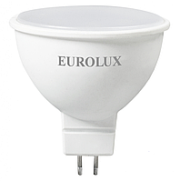 Лампа светодиодная EUROLUX LL-E-MR16-7W-230-4K-GU5.3, фото 1