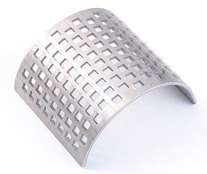 Сито из нерж. стали с квадратными отверстиями 4 мм, Fritsch, фото 2