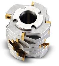Ротор с дисковой фрезой со сменными режущими пластинами и фиксированными ножами из сплава карбида вольфрама