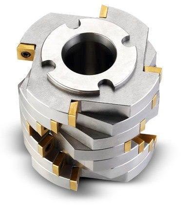 Ротор с дисковой фрезой со сменными режущими пластинами и фиксированными ножами из сплава карбида вольфрама, фото 2
