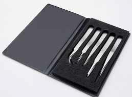 Комплект точных пинцетов, 5 частей, нержавеющая сталь