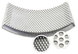 Нижнее сито из нержавеющей стали, отверстие трапецеидальное 0,5 мм (Fritsch)