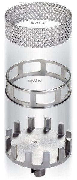 Кольцо-сито, трапецеидальное отверстие, 0,2 мм, НС, для ударного кольца, Fritsch