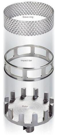Кольцо-сито, трапецеидальное отверстие, 0,5 мм, НС, для ударного кольца, Fritsch, фото 2