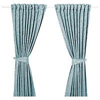 Гардины с прихватом ЛИЗАБРИТТ синий 290х300 см. ИКЕА IKEA, фото 1