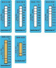 Одноразовые 8-точечные полоски для измерения температуры testoterm®