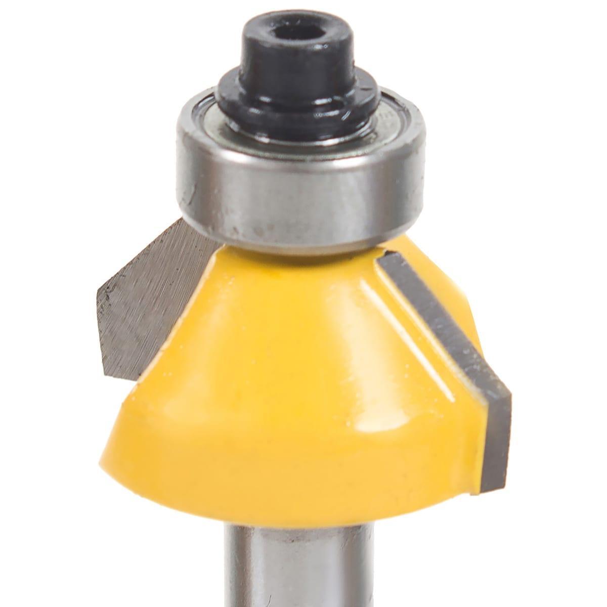Фреза прямая кромочная конусная с подшипником Глобус D=40,l=18.5,d=8mm арт.1022 D40