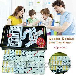 Подарочный игровой набор для игры в Домино в металлическом кейсе