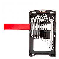 Набор ключей комбинированных, трещоточных шарнирных 11 шт. Matrix, фото 1