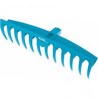 Грабли пластиковые, 400 мм, 12 плоских зубьев, усиленные, LUXE Palisad