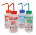 Безопасные бутылки для промывки, с клапаном сброса давления, PE-LD