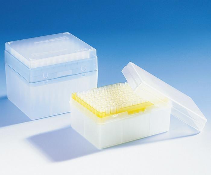 Наконечники для пипеток VITLAB, в низкой упаковке, нестерильные, 2,0-200 мкл, PP