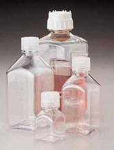 Бутылки четырехгранные с полипропиленовой резьбовой крышкой, поликарбонат, Тип 2015