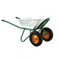 Тачка садово-строительная, двухколесная, усиленная, грузоподьемность 320 кг, обьем 100 л Palisad