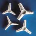 Переходники Kartell для трубок, Y-образные, 120°, полипропилен