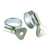 Хомуты металлические, червячные 19-29 мм, ширина 12 мм, W1, с металлическим ключом, 2 шт Сибртех