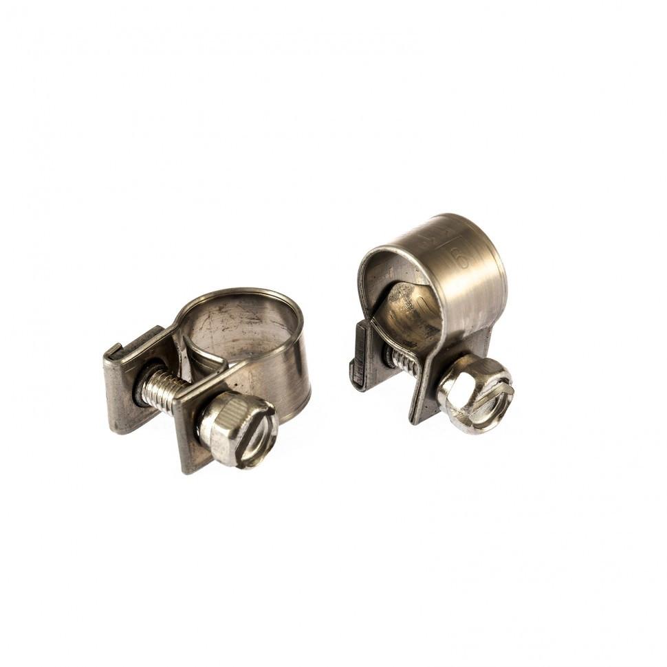 Хомуты металлические, MINI 9-11 мм, ширина 9 мм,  винтовой, W4, 2 шт Сибртех