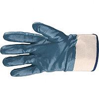 Перчатки трикотажные с обливом из бутадиен-нитрильного каучука, крага, M Сибртех
