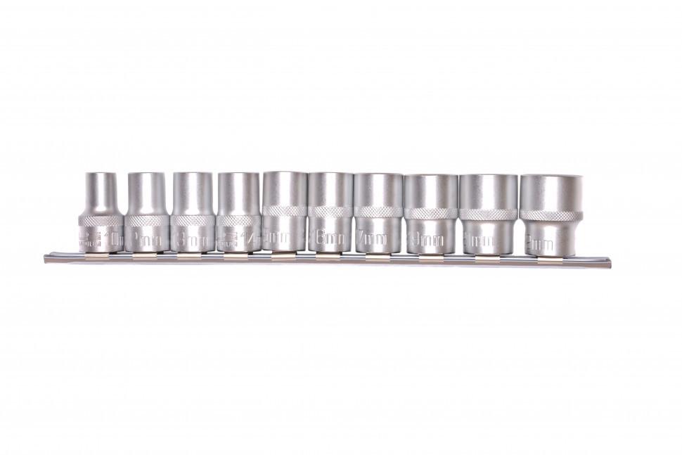 Набор торцевых головок, 1/2, двенадцатигранные, CrV, 10 шт., 10-24 мм Stels