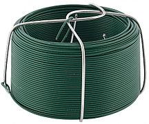 Проволока с ПВХ покрытием, зеленая 0,9 мм, длина 50 м Сибртех