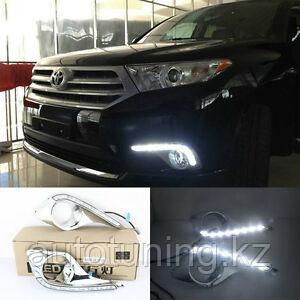 Дневные ходовые огни (ДХО) на Тойота Хайландер 2010-2013 г. Toyota Highlander 2010-2013 DRL